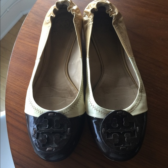 1a1cb0d6208c Tory Burch Shoes - Tory Burch Tri Color Patent Leather Flat
